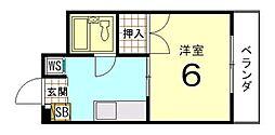 ハイツ北野[101号室]の間取り