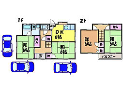 [一戸建] 愛媛県松山市森松町 の賃貸【/】の間取り
