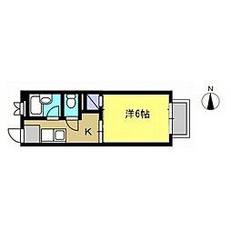 サンライズ・ユー[103号室]の間取り