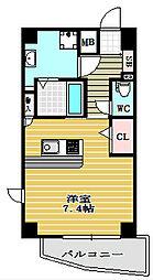 プランドール江戸堀[6階]の間取り