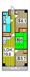 ルクソル浦和[2階]の間取り