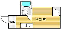 レディース大鉄[4階]の間取り