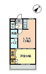 福岡県北九州市八幡西区則松7丁目の賃貸アパートの間取り