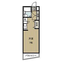 愛知県名古屋市昭和区鶴羽町1丁目の賃貸マンションの間取り