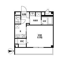 神奈川県川崎市高津区新作6丁目の賃貸アパートの間取り