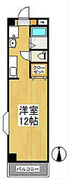 福岡県久留米市原古賀町の賃貸マンションの間取り