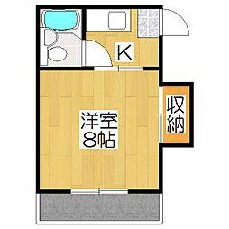 りぶ京都北山[101号室]の間取り