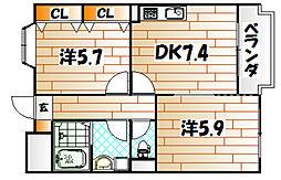 KTレジデンス[1階]の間取り