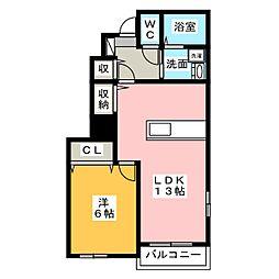 サンプリウス[1階]の間取り