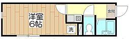 オペラシオンボォヌール竹の塚[101号室]の間取り