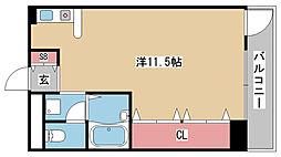 兵庫県神戸市東灘区魚崎西町4丁目の賃貸マンションの間取り