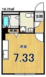ブリエ五条大宮[402号室]の間取り