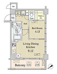 東京メトロ副都心線 北参道駅 徒歩3分の賃貸マンション 5階1LDKの間取り