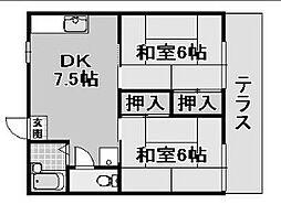 ファミールムカイ[2階]の間取り