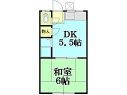 岡村荘(小野町)[203号室]の間取り
