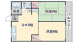シティハイム本山[2階]の間取り