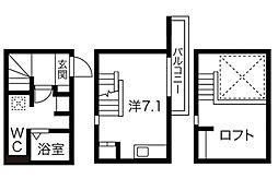 愛知県名古屋市西区栄生1丁目の賃貸アパートの間取り