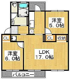 新金岡3丁壱番住宅第1棟[1階]の間取り