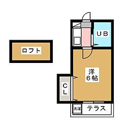ボナール日比野[1階]の間取り