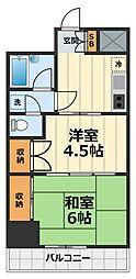 神奈川県大和市大和東1丁目の賃貸マンションの間取り