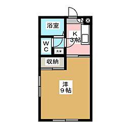 シャトレー岩井II[2階]の間取り