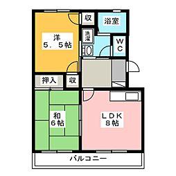 静岡県田方郡函南町仁田の賃貸マンションの間取り