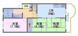 長岡コーポ[2階]の間取り