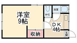 加茂の荘[102号室]の間取り
