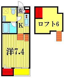 FreeHand松戸[2階]の間取り
