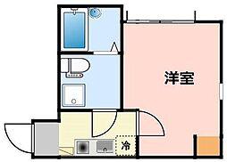 神奈川県川崎市川崎区鋼管通4丁目の賃貸アパートの間取り