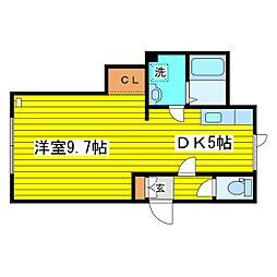 北海道札幌市東区北十八条東16丁目の賃貸アパートの間取り