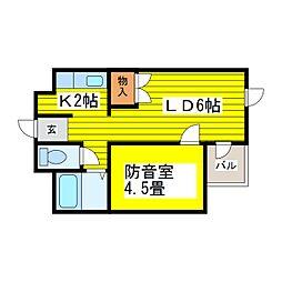 北海道札幌市東区北十六条東10丁目の賃貸マンションの間取り