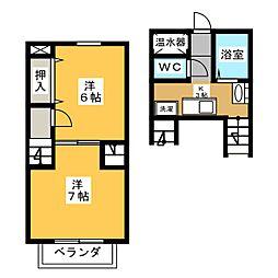 YASURAGI[1階]の間取り