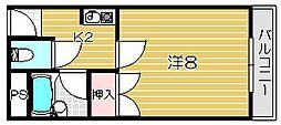 本町8番館[4階]の間取り