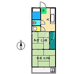 山本マンション(南万々)[3階]の間取り