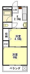 コーポ大日堂[1階]の間取り