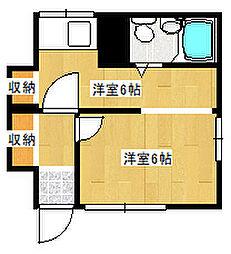 吉井コーポ 1階1DKの間取り