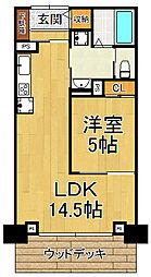 ザ・レジデンス芦屋スイート 4階1LDKの間取り