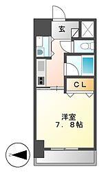 AXIS桜通内山[4階]の間取り