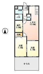ビューティーハイム138[1階]の間取り