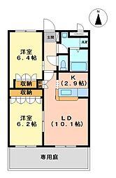 プロニティ 21 1階2LDKの間取り