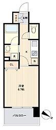 JR東北本線 長町駅 徒歩6分の賃貸マンション 8階1Kの間取り