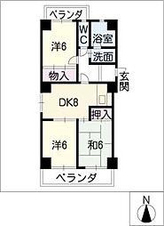 ハウス徳川[4階]の間取り