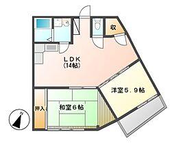 メゾン赤坂[3階]の間取り