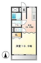 第一幸荘[2階]の間取り