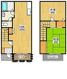 ラフォーレ田島[1階]の間取り