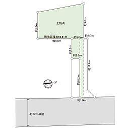 現地区画図です