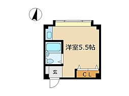 東京都渋谷区神山町の賃貸マンションの間取り