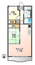 フォレストマンション[1階]の間取り