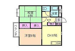 けらっぽ[2階]の間取り